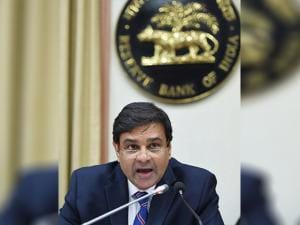 Urjit Patel during a presss conference announcing the RBI monetary policy