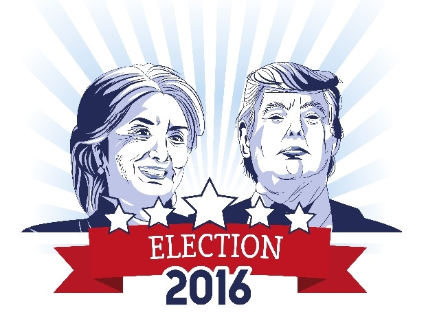US Election 2016, Hillary Clinton, Donald Trump, Democrat, Republic, Voting