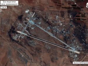 satellite image released by the U.S. Department of Defense shows Shayrat air base in Syria