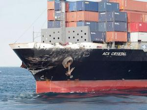 the damage of Philippine-registered container ship ACX Crystal