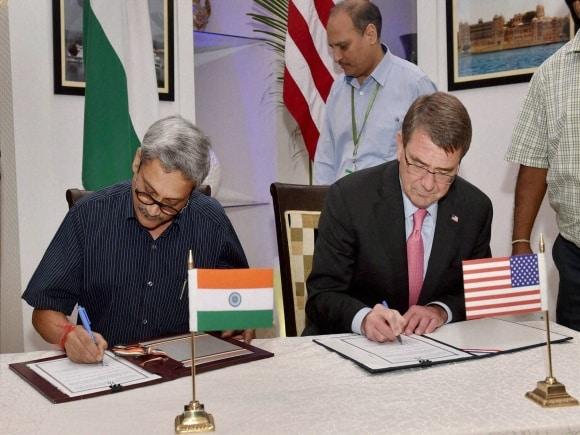 Defence Minister of India, Manohar Parrikar, US Secretary of Defence, Ashton Carter, New Delhi