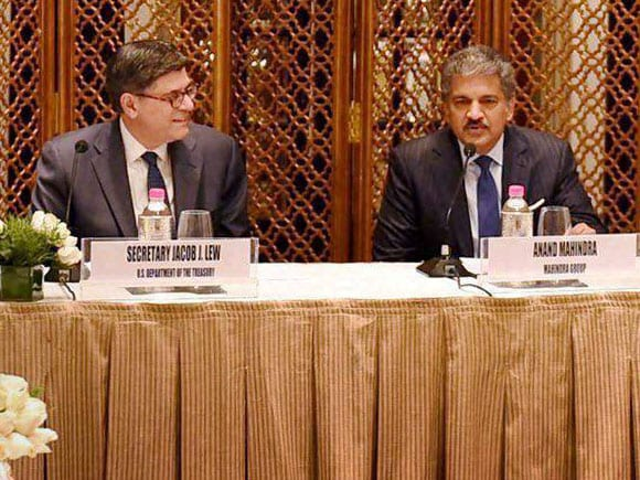 USIBC, CII, U.S. Treasury Secretary,  Jacob J. Lew, Mahindra Group, Anand Mahindra