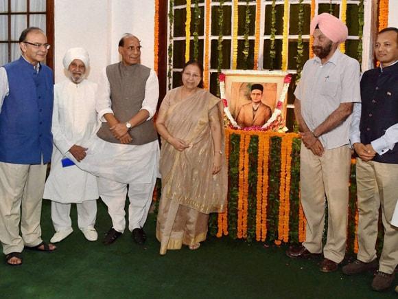 Sumitra Mahajan, Rajya Sabha Dy Chairman, PJ Kurien, Rajnath Singh, Arun Jaitley, Congress, Naveen Jindal, Veer Savarkar, Vinayak Damodar Savarkar, Savarkar, 132nd birth anniversary