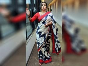 Vidya Balan during the promotion of her upcoming movie
