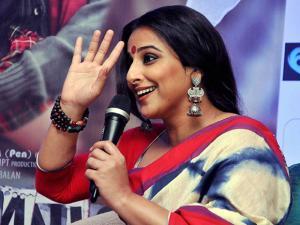 Vidya Balan during the promotion of her upcoming movie 'Kahaani 2'