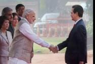Prime Minister Narendra Modi shakes hands with his  Vietnamese  counterpart Nguyen Tan Dung