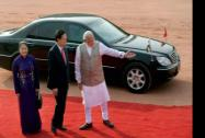 Prime Minister Narendra Modi with his Vietnamese counterpart Nguyen Tan Dung  and his wife Tran Thanh Kiem