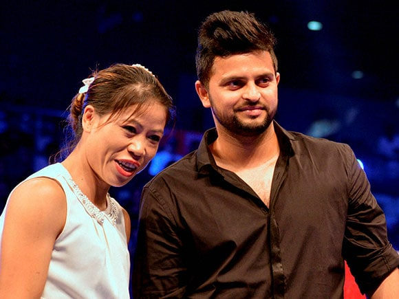 Mary Kom, Suresh Raina, WBO Asia Pacific title, WBO Asia Pacific Middleweight Championship