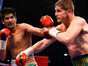 Indian boxer Vijender Singh and kerry hope
