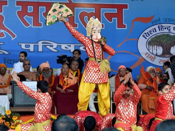 Hindu Sammelan, Children perform, Golden Jubilee, Vishwa Hindu Parishad, Hindu Parishad, Gathering, Celebration