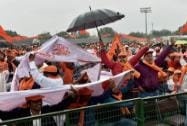 A large gathering at Virat Hindu Sammelan