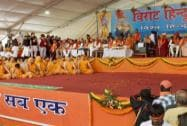 Spiritual gurus and leaders during the Virat Hindu Sammelan