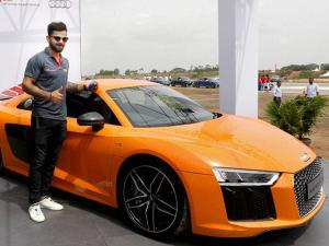 Cricketer Virat Kohli at the launch of the next generation Audi R8 V10 Plus at Taneja Aerospace and Aviation Limited at Denkanikotta Taluk, Belagondapalli near Bengaluru (2)