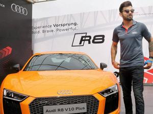 Cricketer Virat Kohli at the launch of the next generation Audi R8 V10 Plus at Taneja Aerospace and Aviation Limited at Denkanikotta Taluk, Belagondapalli near Bengaluru (3)
