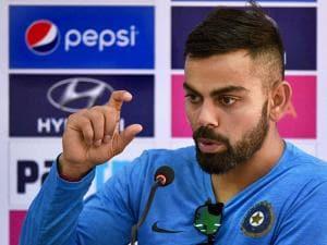 Captain Virat  Kohli  addressing a press conference
