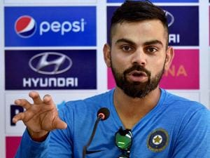 Virat  Kohli  addressing a press conference