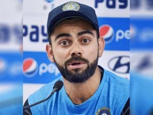 Virat Kohli interacts with the media ahead of the 4th test match  against England
