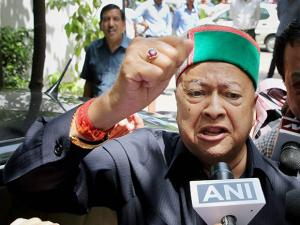 Himachal Pradesh Chief Minister Virbhadra Singh, accused in a money laundering case