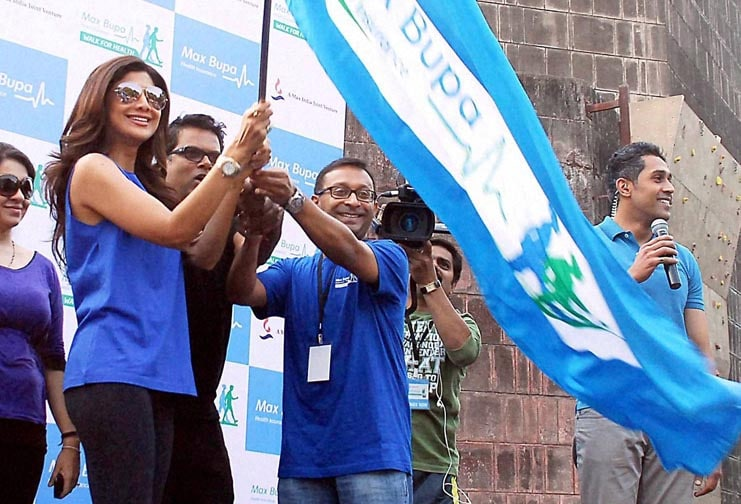 Bollywood actor, Shilpa Shetty, participates, Walk for Health event, Mumbai