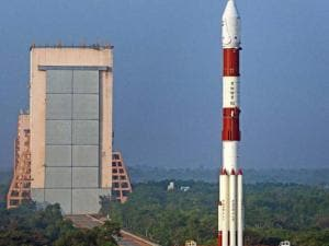 Indian Space Research Organisation's sixth navigation satellite IRNSS-1F, on-board PSLV-C32 lifts off from the spaceport of Sriharikota