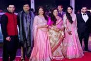 Bollywood actor Shatrughan Sinha and his wife Poonam with family