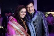 Bollywood actor Shatrughan Sinha with wife Poonam