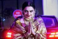 Rekha attends the wedding reception of Shatrughan Sinha's son Kush