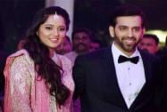 Shatrughan Sinha's son Kush and Taruna Agarwal during their wedding reception
