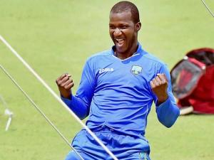 West Indies Captain Darren Sammy during a practice session of T 20 World Cup at Eden Garden
