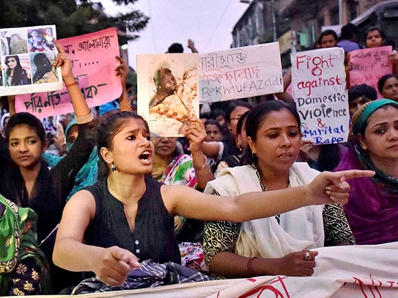 domestic violence, Women, protest, Kolkata