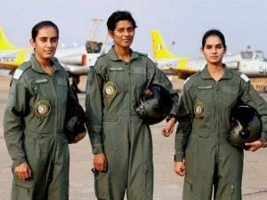 The three cadets who will be inducted in the Indian Air Force on June 18 as the first batch of women fighter pilots