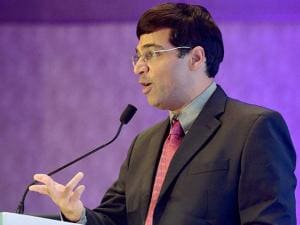 Chess world champion Viswanathan Anand addressing during the Liva accredited partner forum confluence in Mumbai