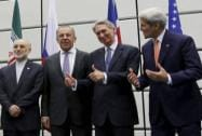 Sergey Lavrov, Philip Hammon, John Kerry and Ernest Moniz