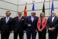 Wang Yi, Laurent Fabius, Frank Walter Steinmeier and Federica Mogherini