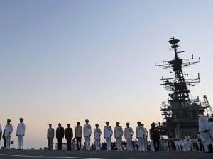 decommissioning ceremony of INS Viraat at naval dockyard