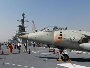 A view of the aircraft carrier INS Viraat