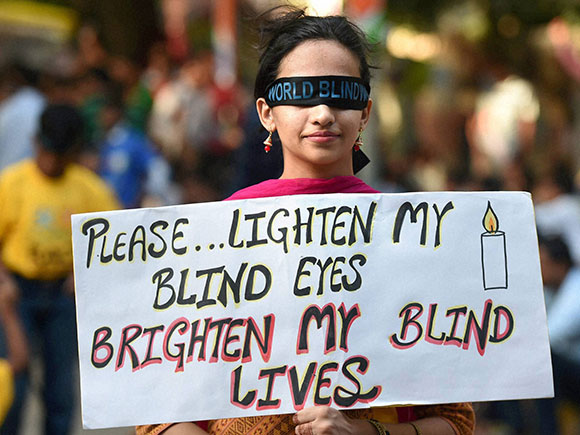 World Sight Day, Blind walk, eye care