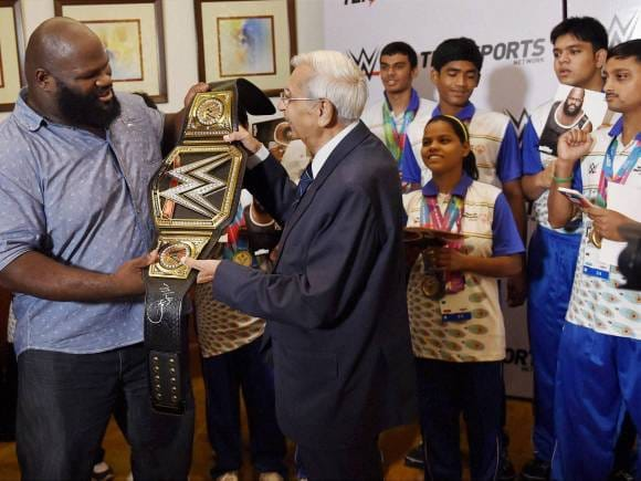 WWE, Mark Henry, WWE Superstar Mark Henry, Entertainment, World Heavyweight Championship, Special Olympic World Summer Games 2015, Air Marshal Denzil Keelor, CEO, Special Olympics Bharat