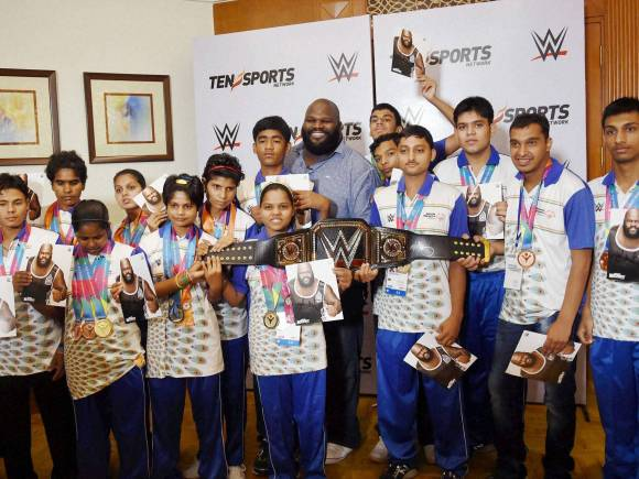 WWE, Mark Henry, WWE Superstar Mark Henry, Entertainment, World Heavyweight Championship, Special Olympic World Summer Games 2015, New Delhi