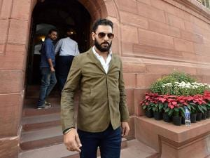 Yuvraj Singh at Parliament
