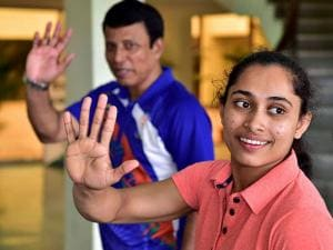 Grand Welcome On Home Coming for Dipa Karmakar