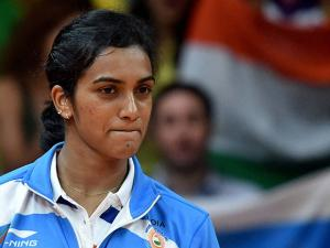 PV Sindhu  after winning silver medal
