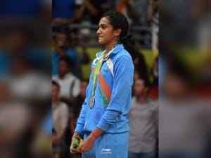 PV Sindhu  after winning silver medal in women's Singles final