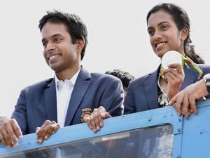PV Sindhu returned home with her silver Olympic medal