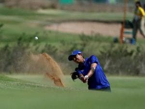 Aditi Ashok of India, during women's golf event at Rio Olympics 2016