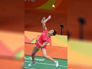 Ashwini Ponnappa play Women Double against Japan in the Summer Olympic 2016