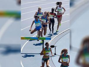 Indian Athlete Lalita Shivaji Babar Participates in Women's 3000m Steeplechase