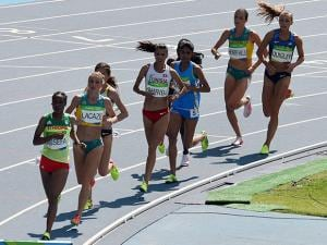 Lalita Babar Participates in Women's 3000m Steeplechase Final