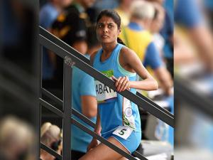 Lalita Shivaji Babar after participating in Women's 3000m Steeplechase Final
