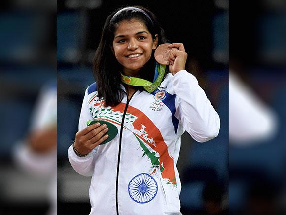 Sakshi Malik, Rio Olympics 2016, bronze medal, women's wrestling, medals ceremony